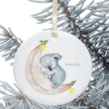 Ceramic Goddaughter/Godson Keepsake Christmas Decoration - Koala Design